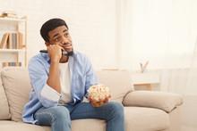 Young Man Watching Tv, Using R...