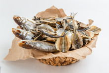 Assorted Dried Fish In A Baske...