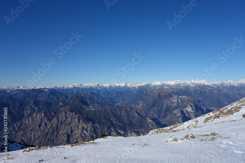 The Altissimo Peak of Nago in northern Italy Prealps Canvas Print