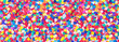 canvas print picture - Colorful, round confetti as background for carnival, New Year's Eve, banner