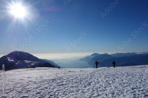 Photo The Altissimo Peak of Nago in northern Italy Prealps
