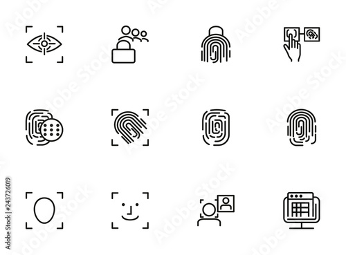 Personality identification line icon set  Set of line icons