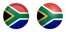 South Africa Flag Under 3d Dom...
