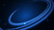 Curved blue shine lines on dark background with shine sparks
