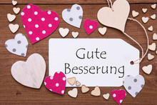 Label, Pink Hearts, Gute Besse...