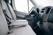 Modern cargo van interior and armrest