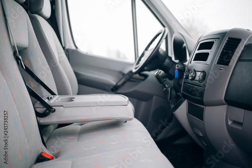 Modern cargo van interior and armrest Canvas Print