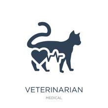 Veterinarian Hospital Icon Vector On White Background, Veterinar