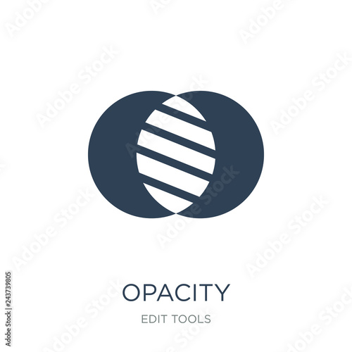 Fotografie, Obraz  opacity icon vector on white background, opacity trendy filled i