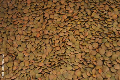 Green lentils grain background #243740211