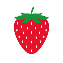 Strawberry Colored Icon. Vector