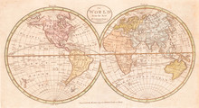 Old Map Of The World, Payne 1798