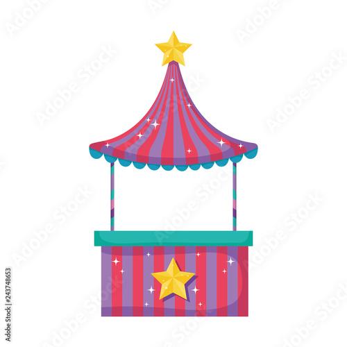 Fotografía  cute carnival kiosk icon