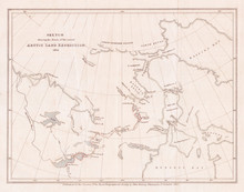 1835, Murray Map Of The Arctic Land Expedition, Hudson Bay, Canada
