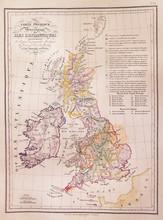 1837, Malte-Brun Map Of The British Isles, England, Scotland, Ireland