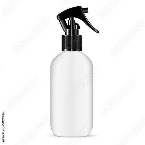 Trigger Pisttol Spray White Plastic Bottle Fototapeta