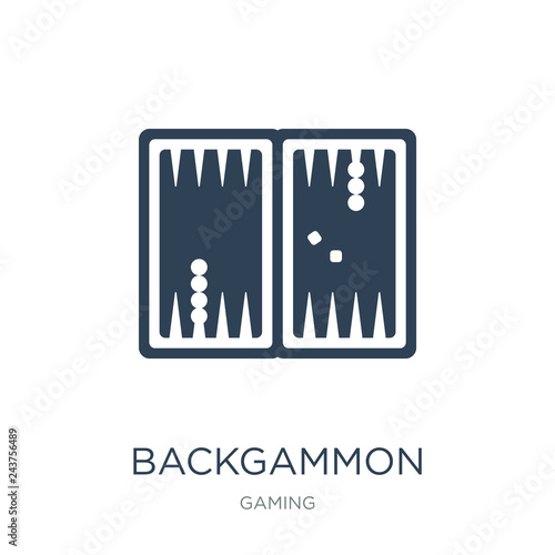 Obraz na plátně backgammon icon vector on white background, backgammon trendy fi