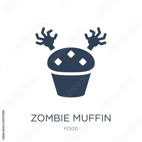 Fotografie, Obraz  zombie muffin icon vector on white background, zombie muffin tre