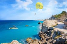 Parasailing In Aegean Sea In C...