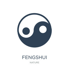 Fengshui Icon Vector On White Background, Fengshui Trendy Filled