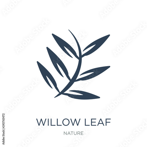Fotografie, Tablou willow leaf icon vector on white background, willow leaf trendy