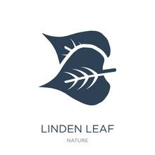 Linden Leaf Icon Vector On White Background, Linden Leaf Trendy
