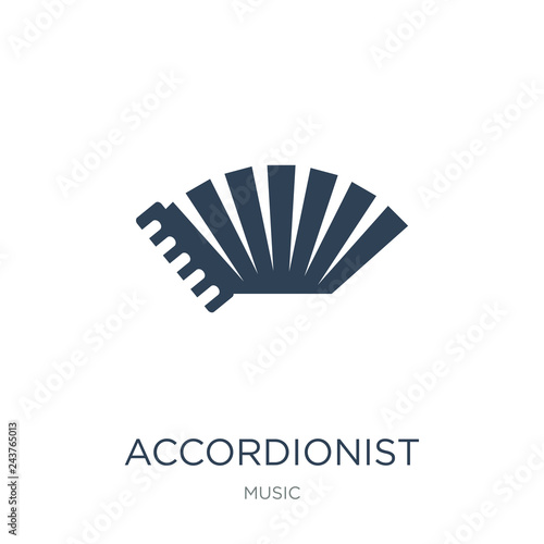 accordionist icon vector on white background, accordionist trend Tapéta, Fotótapéta