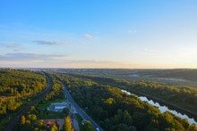 Panoramic View Of Moscow Canal...