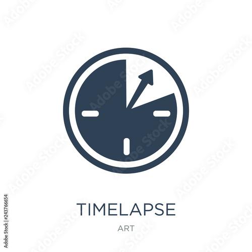timelapse icon vector on white background, timelapse trendy fill Fotobehang