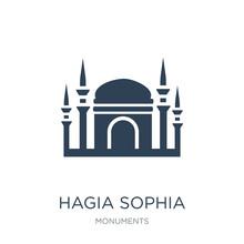 Hagia Sophia Icon Vector On Wh...