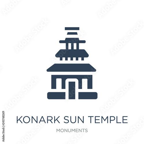 Tablou Canvas konark sun temple icon vector on white background, konark sun te