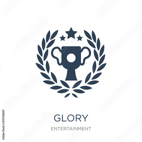 Valokuva  glory icon vector on white background, glory trendy filled icons