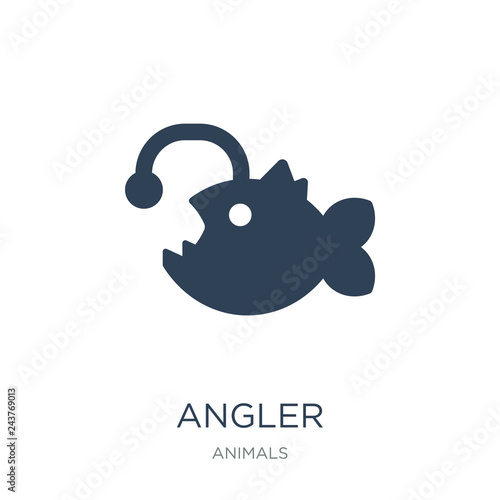 Cuadros en Lienzo angler icon vector on white background, angler trendy filled ico