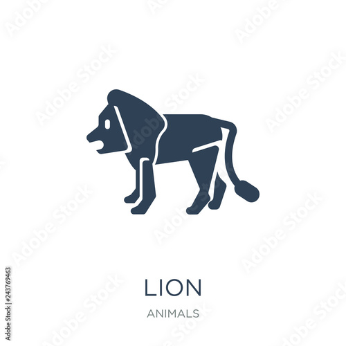lion icon vector on white background, lion trendy filled icons f фототапет