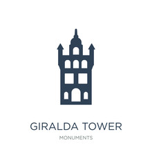 Giralda Tower Icon Vector On W...