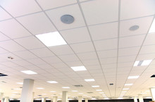 White Office Ceiling With Whit...