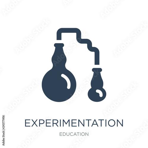Fotografia  experimentation icon vector on white background, experimentation