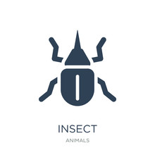 Insect Icon Vector On White Ba...