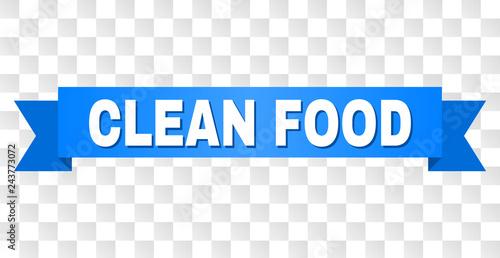 Fotografía  CLEAN FOOD text on a ribbon