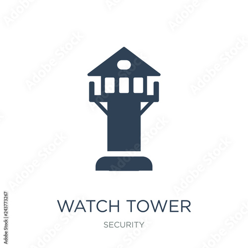 Obraz na plátne watch tower icon vector on white background, watch tower trendy filled icons fro