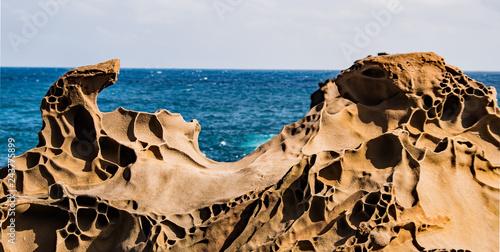 Fotografía  Taiwan Jialeshuei Fish Rock Ocean Scenic