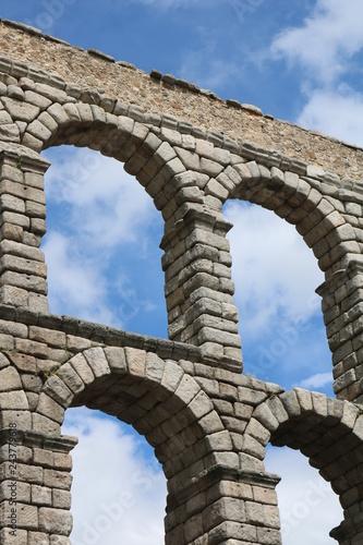 Canvas Print aqueduct of segovia spain