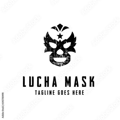 Printed kitchen splashbacks Lucha Mask Logo concept. Creative Minimal design template. Symbol for Corporate Business Identity. Creative Vector element