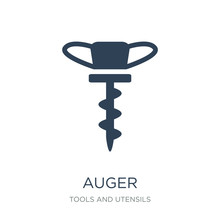 Auger Icon Vector On White Bac...