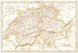 1832, Delamarche Map of Switzerland