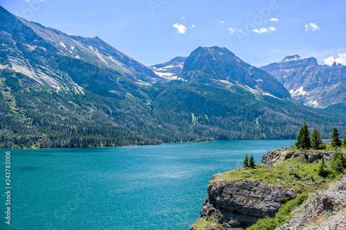 Fotografia, Obraz  St Mary Lake in Glacier National Park in Montana