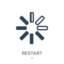 Restart Icon Vector On White Background, Restart Trendy Filled Icons From UI Collection, Restart Vector Illustration