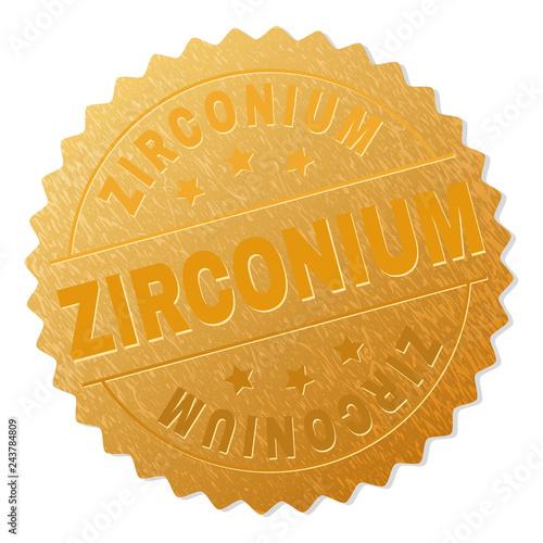 Fotografia, Obraz  ZIRCONIUM gold stamp medallion