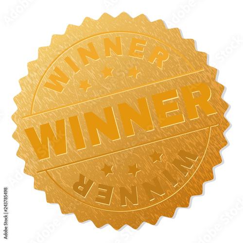 Fotografie, Obraz  WINNER gold stamp award
