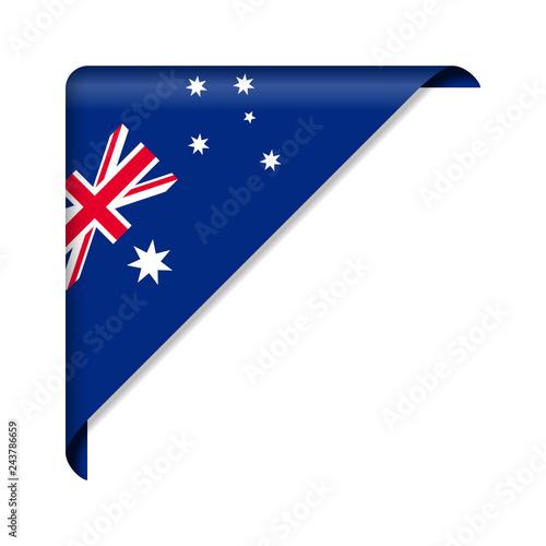 Corner ribbon Australia Flag